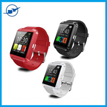 2015 iOS bluetooth U8 smart watch for andriod and iOS,passometer and alarm clock function bluetooth watch