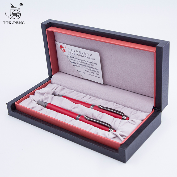Nice ball point pen business gift wooden luxury gift pen box