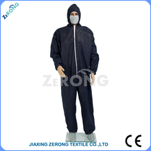 Black Standard Style ZR-PT-2015-0005 SMS fabric Disposable Protective suit