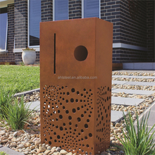 Wall mounted outdoor design water proof corten metal letterbox for house