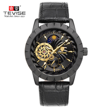 TEVISE watches Men Luxury tourbillon watches automatic movement