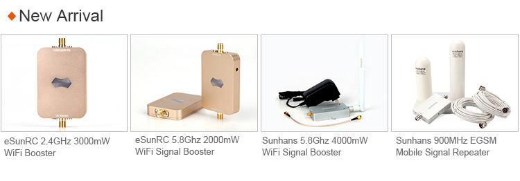 10 metres 1800/2600MHz dual-band 4G LTE mobile signal repeater quad