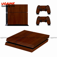 Pop sell wood grain skin sticker for ps4