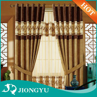 New Product Competitive price European Style Ready made flame retardant kitchen curtain