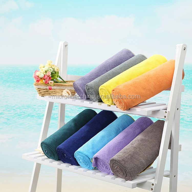 plush microfiber yoga towel / sport towel/ gym towel