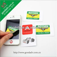 Custom printable logo high quality cell phone sticky cleaner