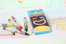 Hot Sale for kids and school 6 pcs Hexagonal Crayon Stationery Set