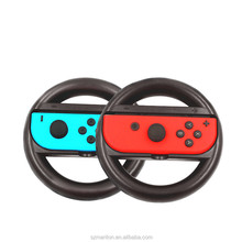 2 packs console video game accessory left-right ABS material steering Raciing Wheel for Nintendo switch with retail package
