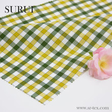 Check cotton poly yarn dyed Twill fabric