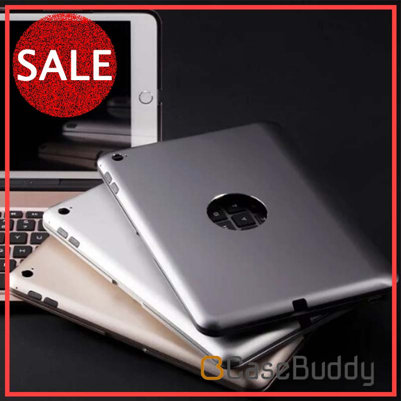 Aluminum Alloy Backlit Keys Power Bank Calmshell Bluetooth Keyboard case For iPad Mini 4 From Casebuddy