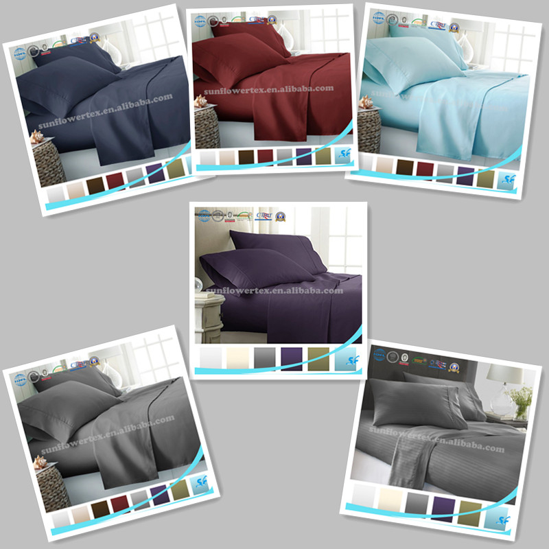 4PC solid color sheet set /Duvet Cover Set