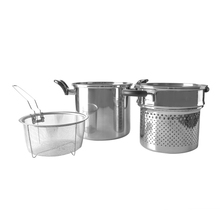 304 stainless steel cooker noodles pasta pot set with strainer and basket asparagus cooking pot stock hot pot HC-SP61104