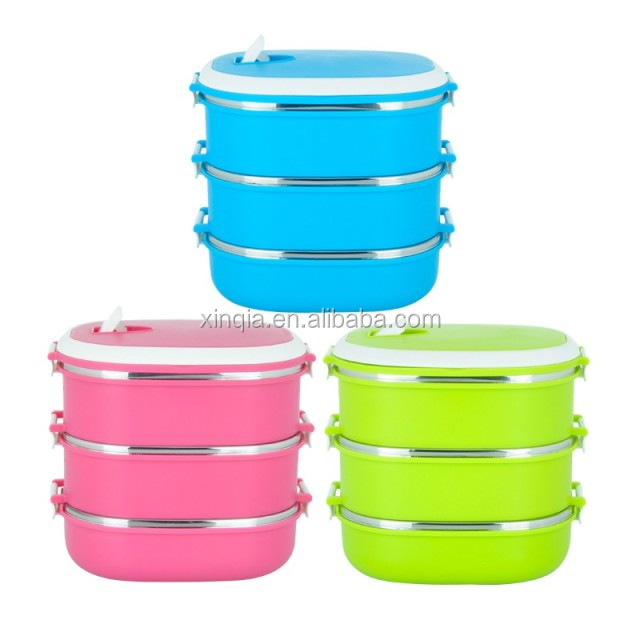 food grade folding kitchen Korean Metal Lunch Box with Lock
