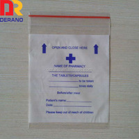 chinese shandong drug or medicine mini ziploc bags
