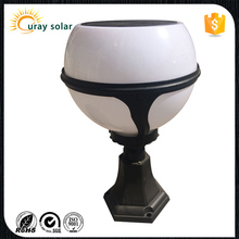2016 new arrival waterproof die cast aluminium solar power outdoor led pillar light