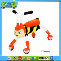 Funny bee walker baby kids ride on toys with light and music and 360 degree rotating slide