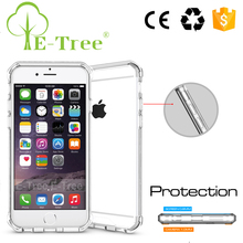 Slim Transparent Hybrid Hard ABS Plastic Crystal TPU Case For iPhone 6s, Cell Phone Bumper Case for iPhone 7 7 Plus Case