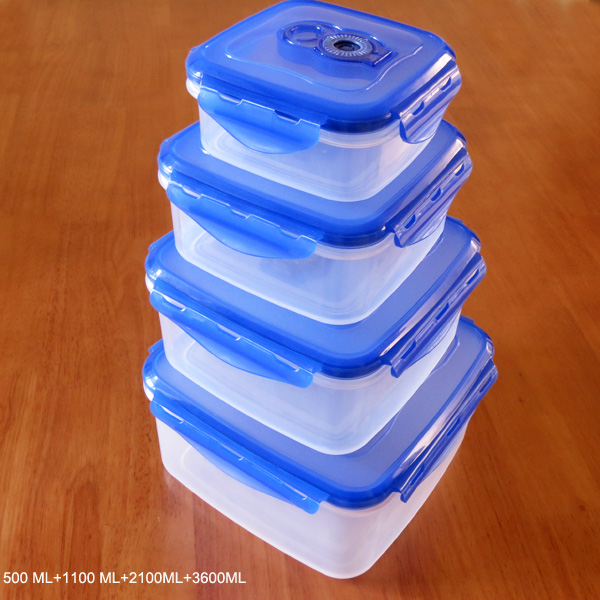 4 in 1 Effective vacuum-sealed food container with date dial