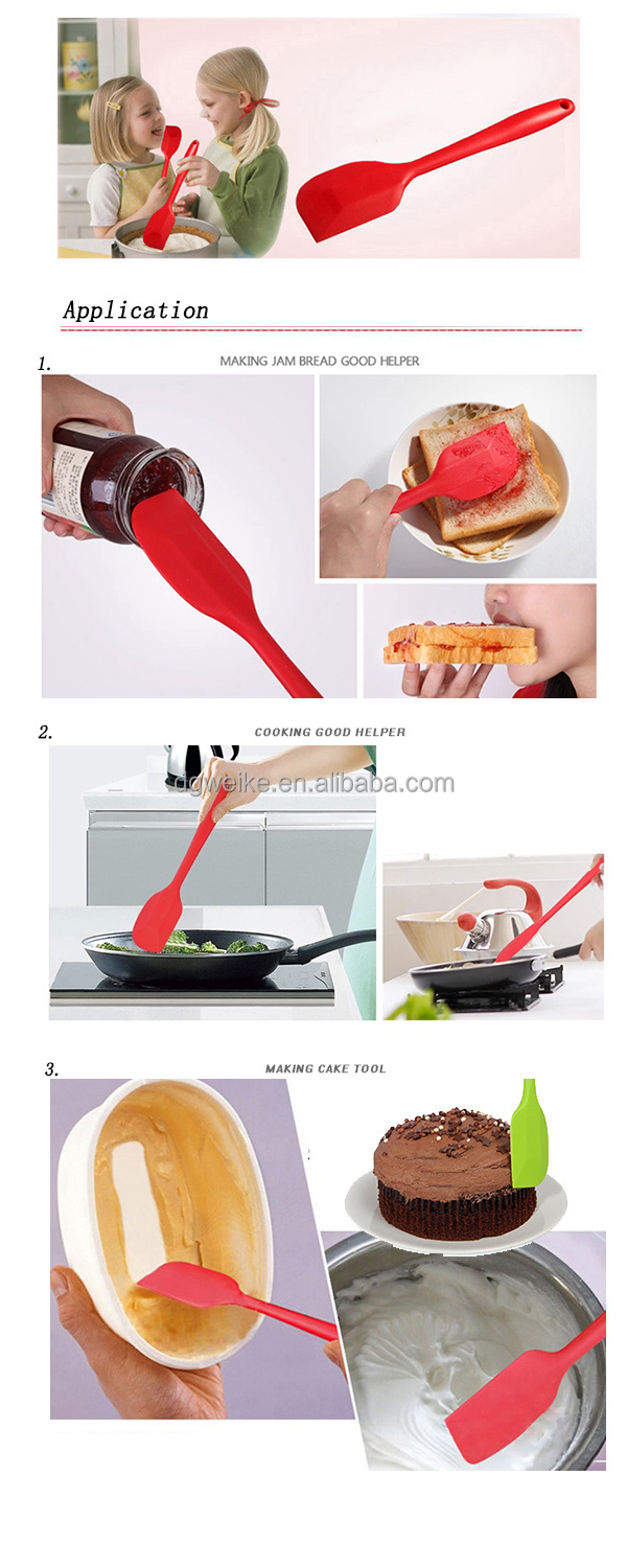 New products colorful silicone spatula set/Best kitchen tool silicone spatula