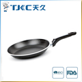 aluminum non-stick frying pan with rim
