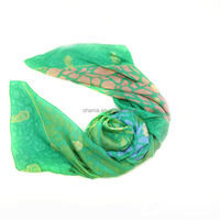 new fashion pure silk dobby embroidered muslim scarf long style