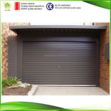 Guangzhou factory price hurricane resistant customized size transparent cheap garage roller shutter with strap switch