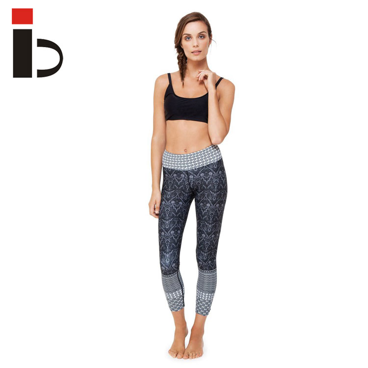 Wholesale sublimation leggings fitness jogging yoga pants tights sport leggings