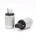 One Pair Audio Grade Carbon Fiber Rhodium Plated USA Power Plug HiFi United States AC Connectors Cord Adapter