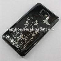 Black Flower Skin Cover Case for Samsung Galaxy S2 II i9100