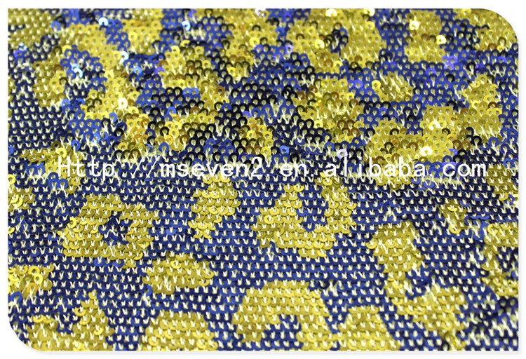 Good Price Two Colors Fish Scale Wholesale Sequin Fabric India for Dress