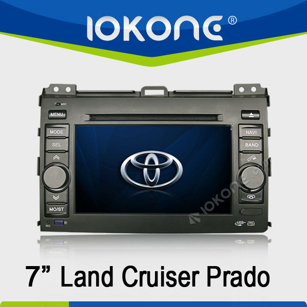 7'' HD Touch screen double din GPS navigation in dash Car DVD player for Toyota Land Cruiser Prado