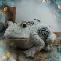 Garden Frog Decoration Magnesia material