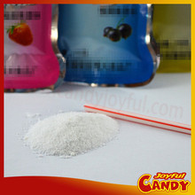 Wine shape bag sour powder candy with straw
