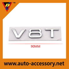 V8T V6T Brand Custom Logos 3d Stickers Chrome Abs Car Emblem