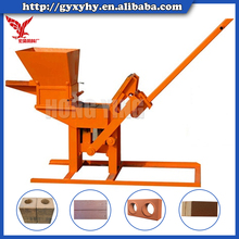 manual soil bricks machine mud interlock block making machine in Nepal