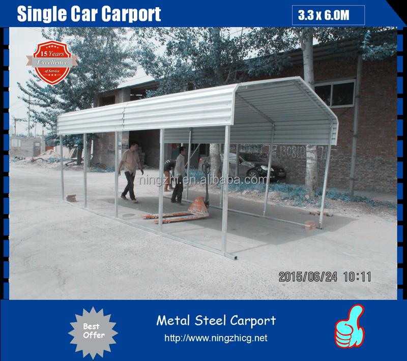 De metal de acero solo coche marquesina proveedor garajes - Garajes de metal ...