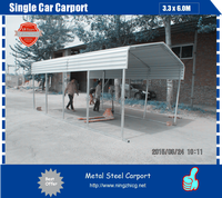 Metal Steel Single Car Carport/portable car shed SUPPLIER