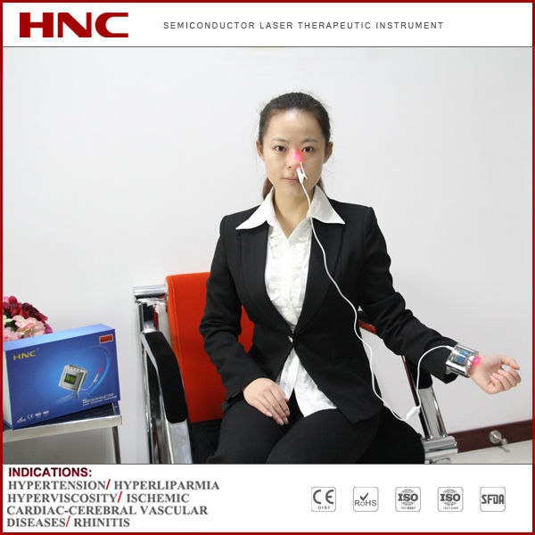 HNC factory offer medical infrared laser therapy device wrist watch type