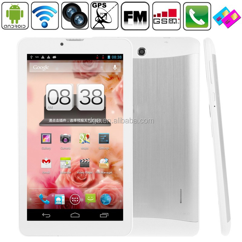 Tablet PC Factory Brilliant 7 Inch MTK 6572 Dual Core 1.2GHZ 512 RAM+4G Tablet PC With Wifi+3G