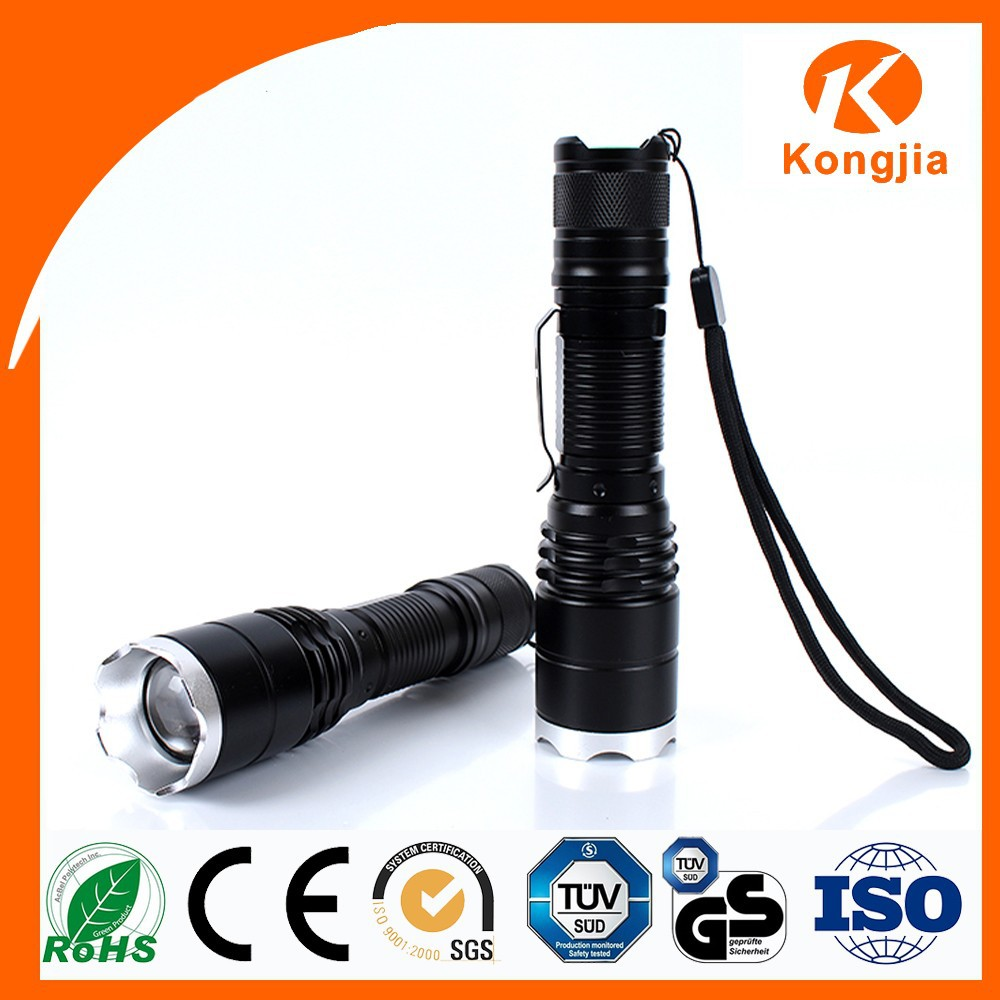 Most Powerful Aluminum Alloy FlashLight Led Long Distance Moving Head FlashLight Electric Charging Torch