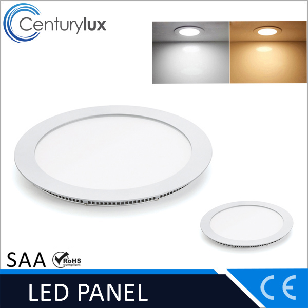 2017 Recessed Dimmable 9W Ultra Slim SMD LED Panel Light Round Square With CE Rohs Listed
