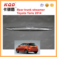 New arrival toyota yaris car accessories Rear trun trim for used toyota yaris accessories ABS Plastic chromerear trunk streamer