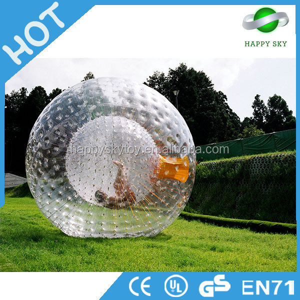 High quality inflatable glow beach ball, glow zorb ball,football inflatable body zorb ball