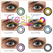 Freshgo 2017 cheap price crystal angel clear crystal soft dolly eye contact lens