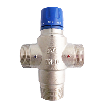 "Alibaba China Supplier Brass 1-1/2"" DN40 Solar Shower Thermostatic Mixing Valve"