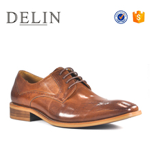 Excellent quality supply sample brown dress shoes for man with bsci
