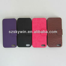 Wallet style special leather case for iphone5,for iphone leather case with high quality