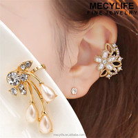 MECY LIFE 2015 new design cheap fashion pictures of gold earrings