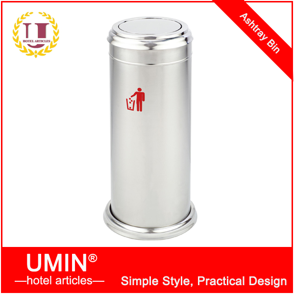 Stainless Steel Round Metal Ashtray Bin