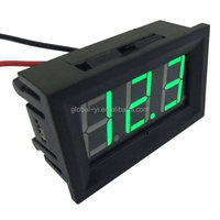 "12v 24v Mini Digital Car Voltmeter DC 3- 30.0V Voltage Tester 0.56"" Bright Red LED Accuracy Volts Display"